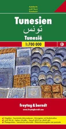Tunézia autótérkép - f&b AK 148
