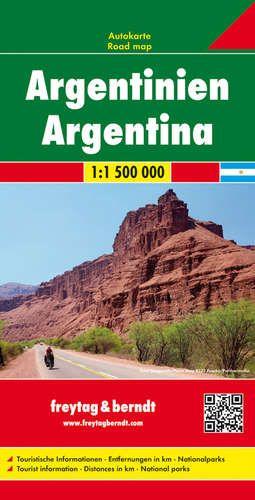 Argentína autótérkép - f&b AK 206