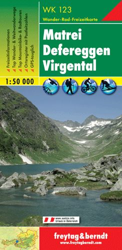 Matrei-Defereggen-Virgental turistatérkép - f&b WK 123