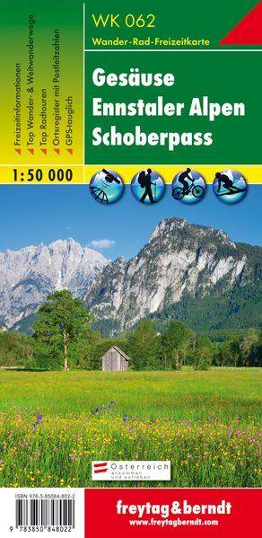 Gesäuse-Ennstaler Alpen-Schoberpass turistatérkép - f&b WK 062