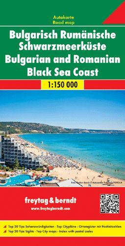 Bolgár és román tengerpart  autótérkép - f&b AK 0908