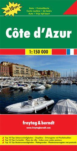 Côte d' Azur Top 10 tipp autótérkép - f&b AK 0402