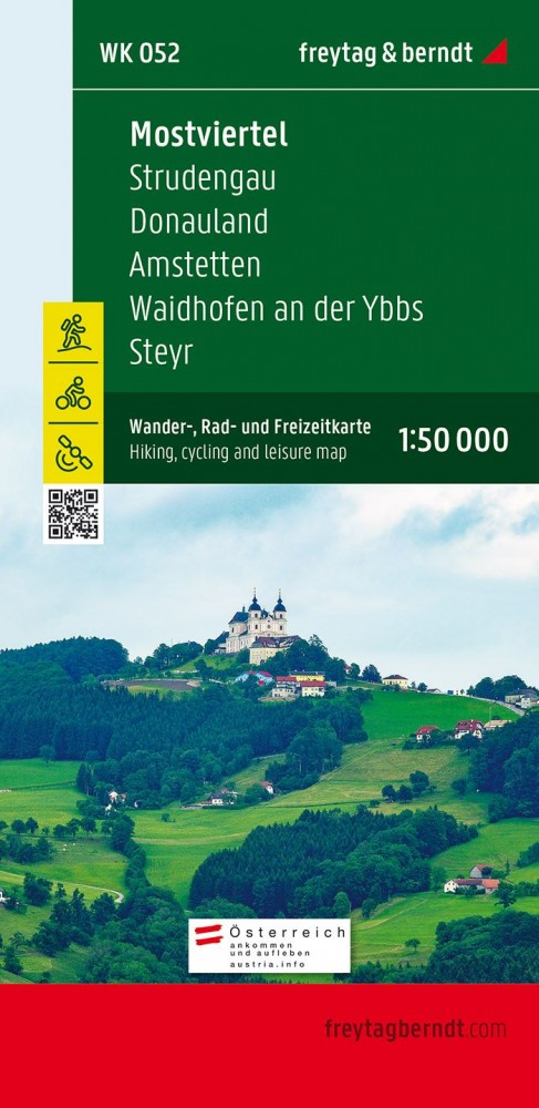 Mostviertel-Strudengau-Donauland-Amstetten-Waidhofen a.d. Ybbs-Steyr turistatérkép - f&b WK 052