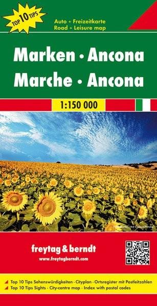 No 9. - Közép-Adria - Ancona Top 10 Tipp autótérkép - f&b AK 0609