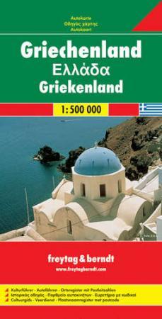Görögország autótérkép - f&b AK 0825