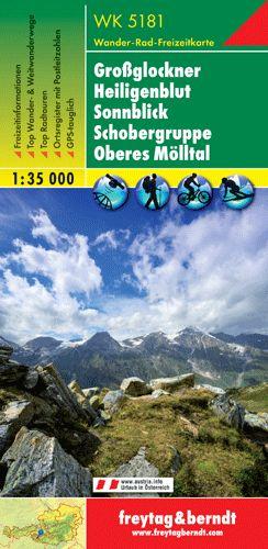 Grossglockner-Heiligenblut-Sonnblick-Schobergruppe-Oberes Mölltal turistatérkép - f&b WK 5181