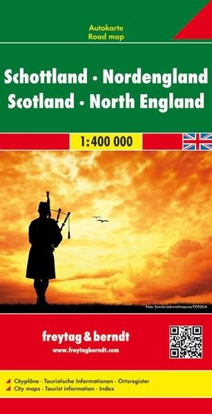 Skócia és Észak-Anglia autótérkép - f&b AK 0288
