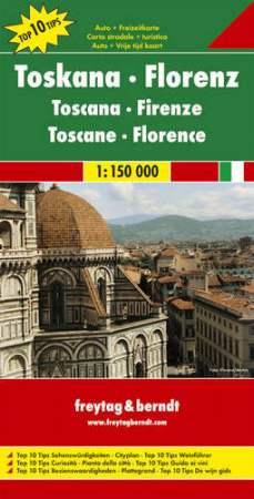 No 5. - Toszkána - Firenze Top 10 Tipp autótérkép - f&b AK 0610
