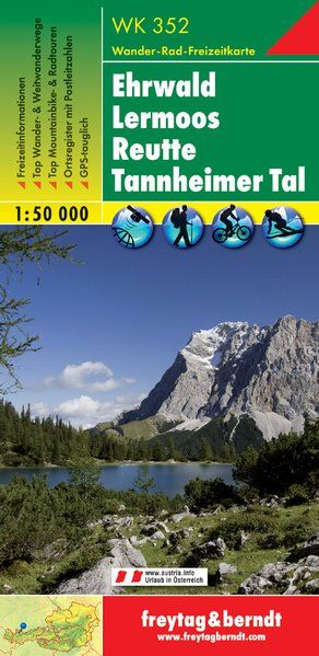 Ehrwald-Lermoos-Reutte-Tannheimer Tal turistatérkép - f&b WK 352