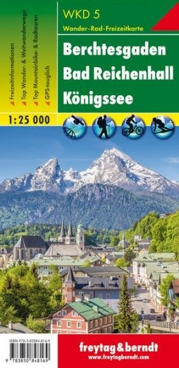 Bechtesgaden-Bad Reichenhall-Königssee turistatérkép - f&b WKD 5