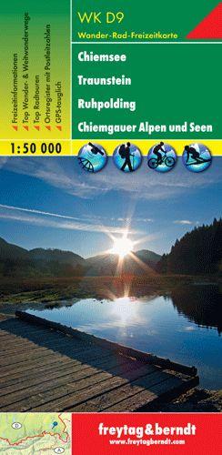 Chiemsee-Traunstein-Ruhpolding-Chiemgauer Alpen und Seen turistatérkép - f&b WKD 9