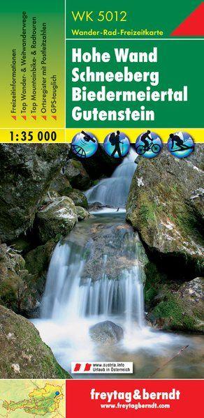 Hohe Wand – Schneeberg – Biedermeiertal – Gutenstein turistatérkép - f&b WK 5012