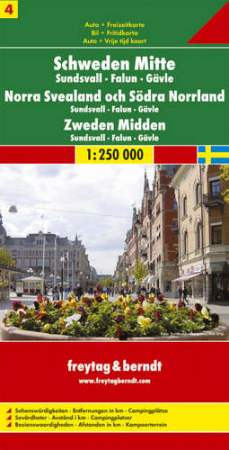 Közép-Svédország: Sundsvall-Falun-Gävle (Svédország 4) térkép - f&b AK 06610