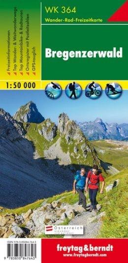 Bregenzerwald-Rheintal turistatérkép - f&b WK 364